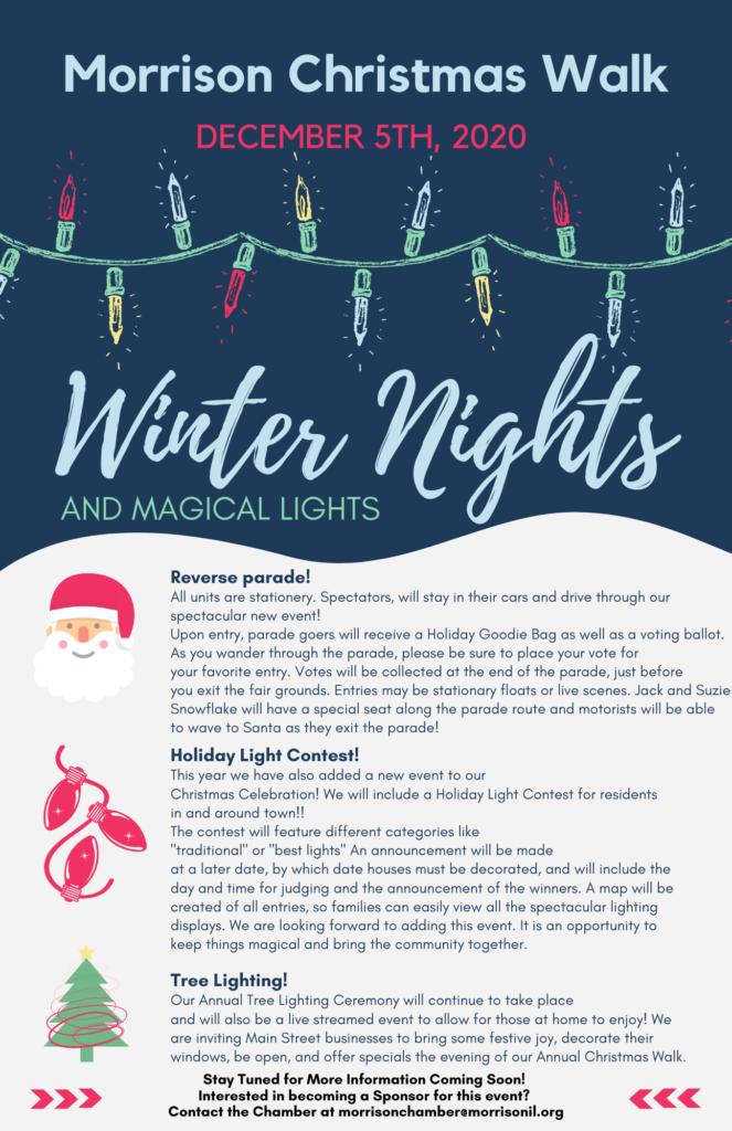 2020 Christmas Walk, December 6 2020 Christmas Walk   Winter Nights and Magical Lights   Morrison